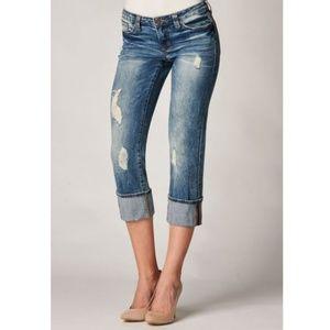 Dear John Cuffed Playback Cropped Jeans A1116